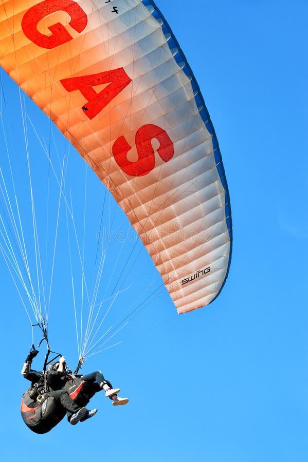 Paraglinding w oludeniz Turcja obrazy royalty free