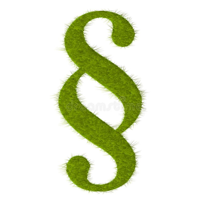 Paragraph eco green lawn vector. Paragraph eco green lawn vector royalty free illustration