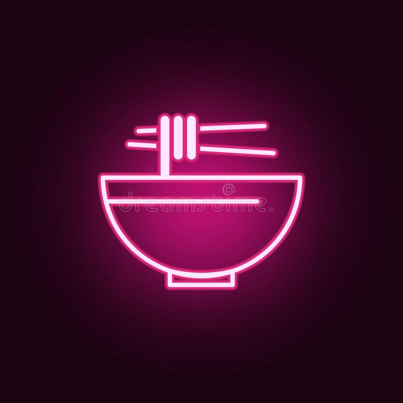 paragraph sign neon icon. Elements of web set. Simple icon for websites, web design, mobile app, info graphics vector illustration