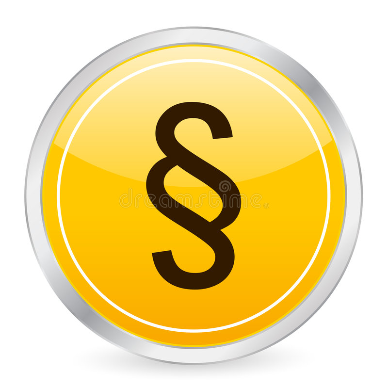Paragraph Symbol Yellow Circle Royalty Free Stock Image