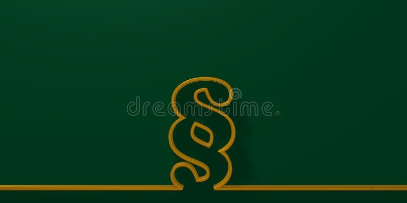 Paragraph symbols on green background stock illustration