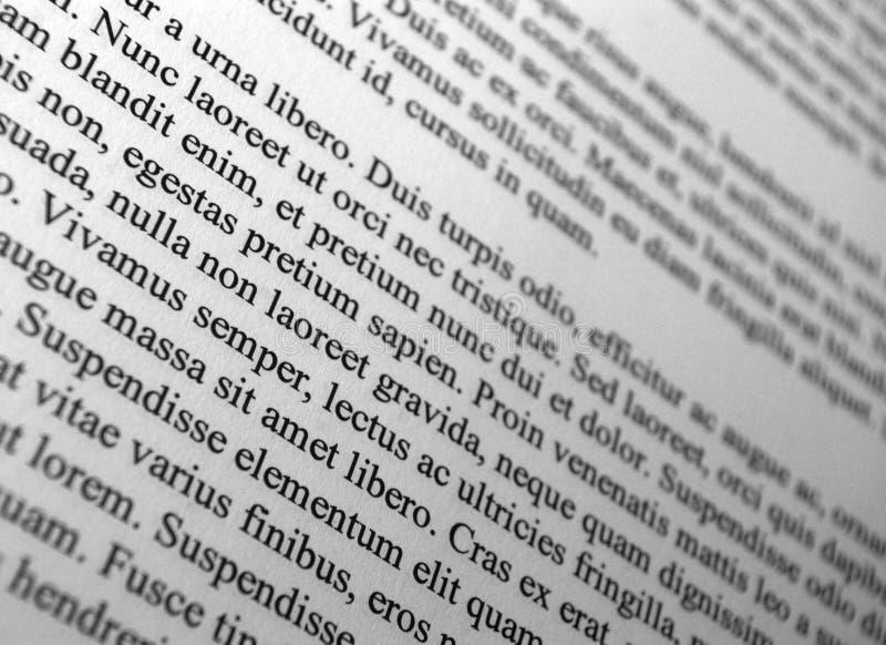 Paragraphes des textes de lorem ipsum image stock