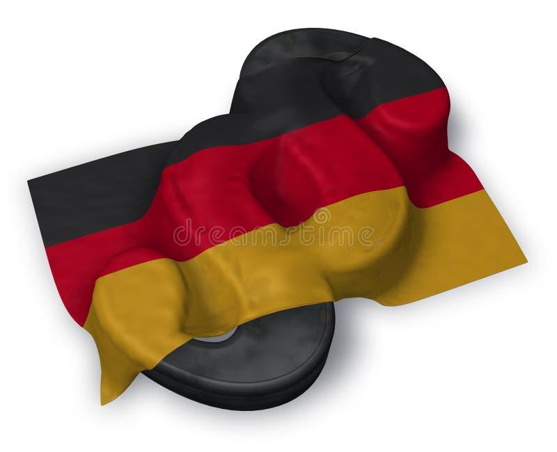 Paragraphsymbol und deutsche Flagge lizenzfreie abbildung