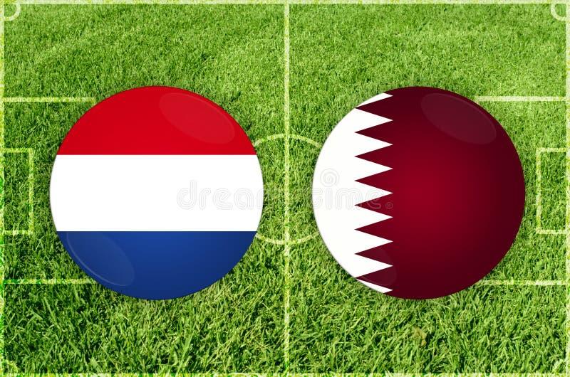 Paraguai contra o fósforo de futebol de Catar ilustração stock