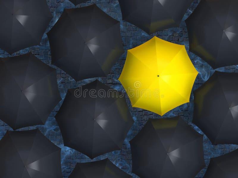 Paraguas amarillo libre illustration