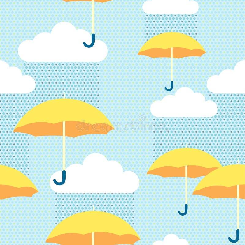 Paraguas amarillos stock de ilustración