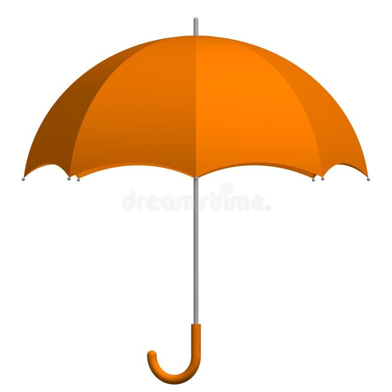 Paraguas anaranjado stock de ilustración