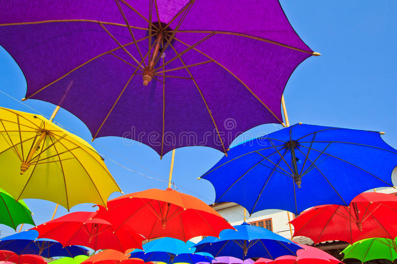 Paraguas asiático del estilo fotografía de archivo libre de regalías