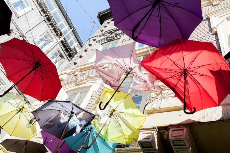 Paraguas coloreados fotos de archivo