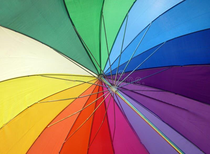 Paraguas del arco iris fotografía de archivo libre de regalías