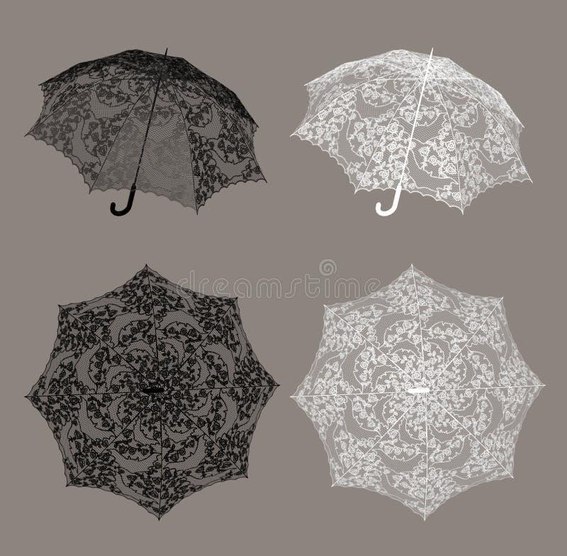 Paraguas del cordón ilustración del vector