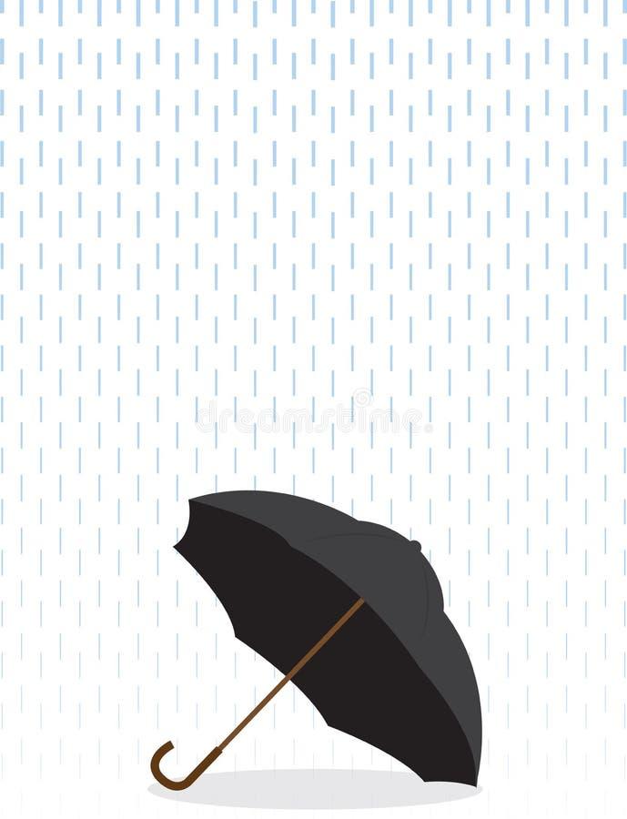 Paraguas en lluvia libre illustration