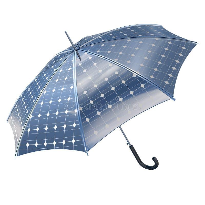 Paraguas fotovoltaico solar libre illustration