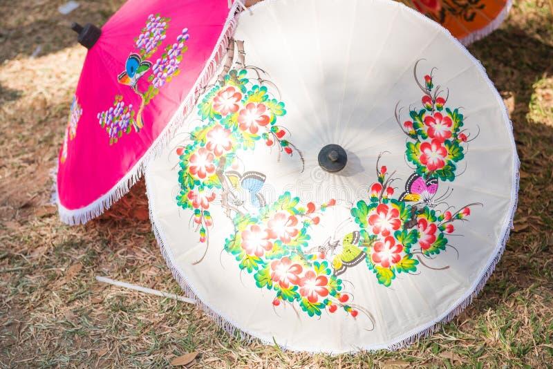 Paraguas tailandés hecho a mano de Chiang Mai, Tailandia fotografía de archivo