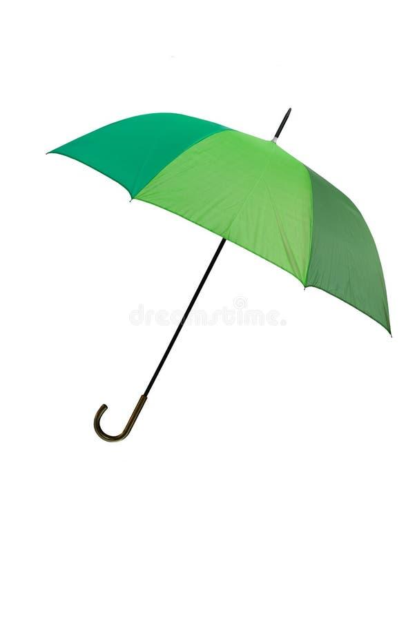 Paraguas verde - aislado imagenes de archivo