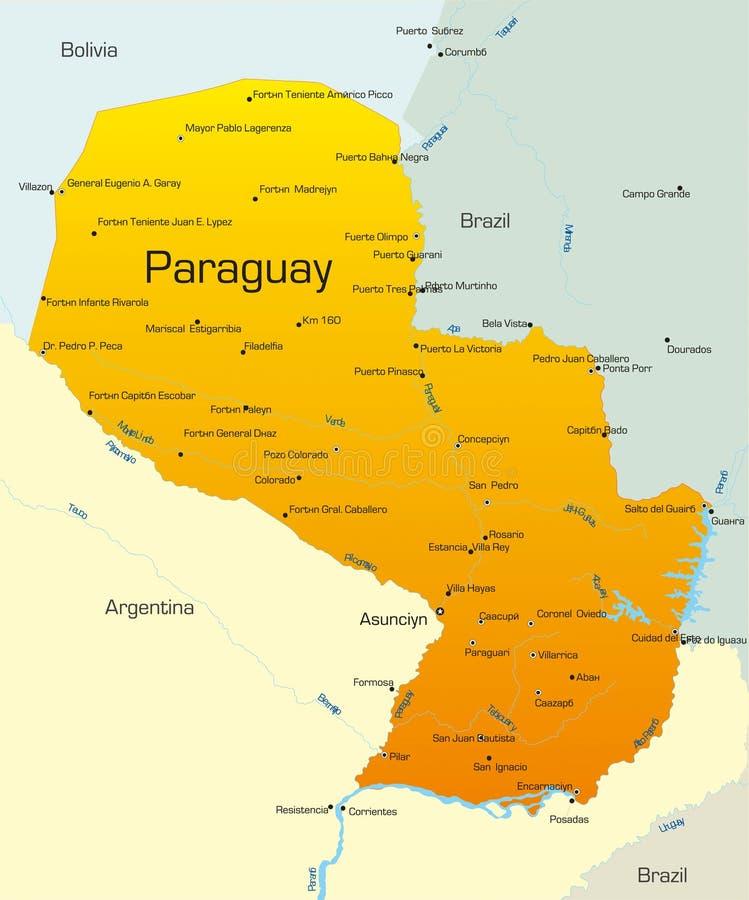 Paraguay royalty-vrije illustratie