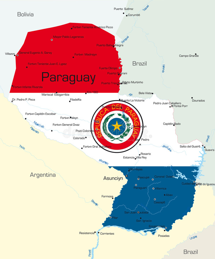Download Paraguay stock vector. Image of land, globe, georgia, colombia - 6667784