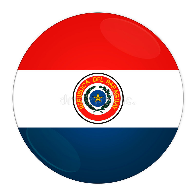 Download Paraguay button with flag stock illustration. Illustration of button - 6552326