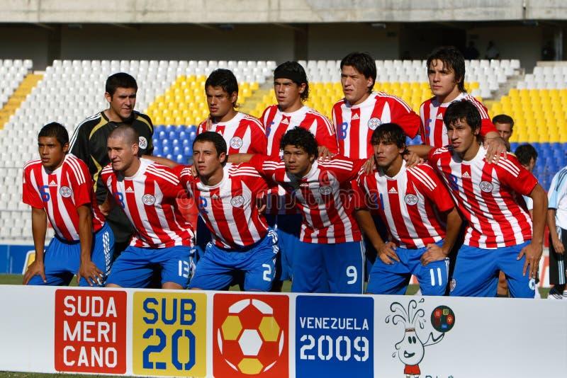 paraguay drużynowy u20 obraz royalty free