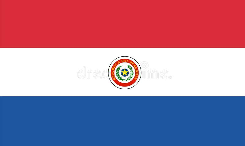 Paraguay flag vector.Illustration of Paraguay flag. Background stock illustration