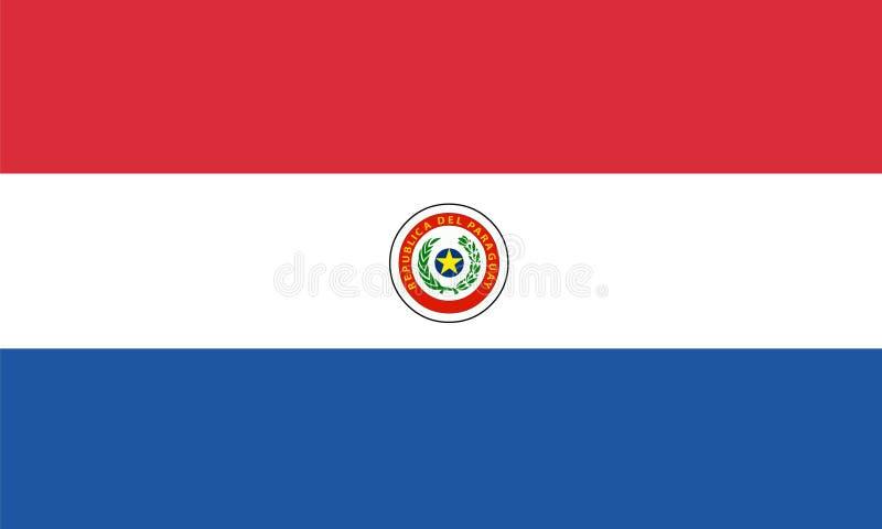 Paraguay flaggavektor Illustration av den Paraguay flaggan stock illustrationer