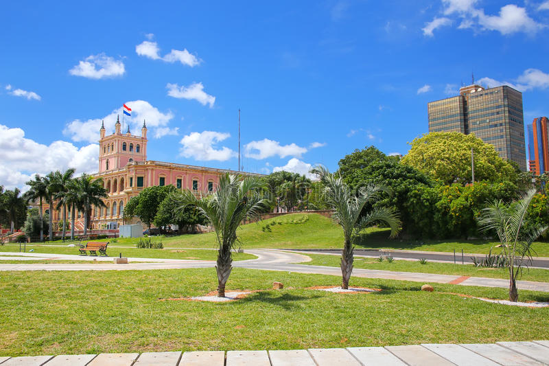 Paraguay river promenade in Asuncion, Paraguay. Asuncion is the capital and the largest city of Paraguay royalty free stock images