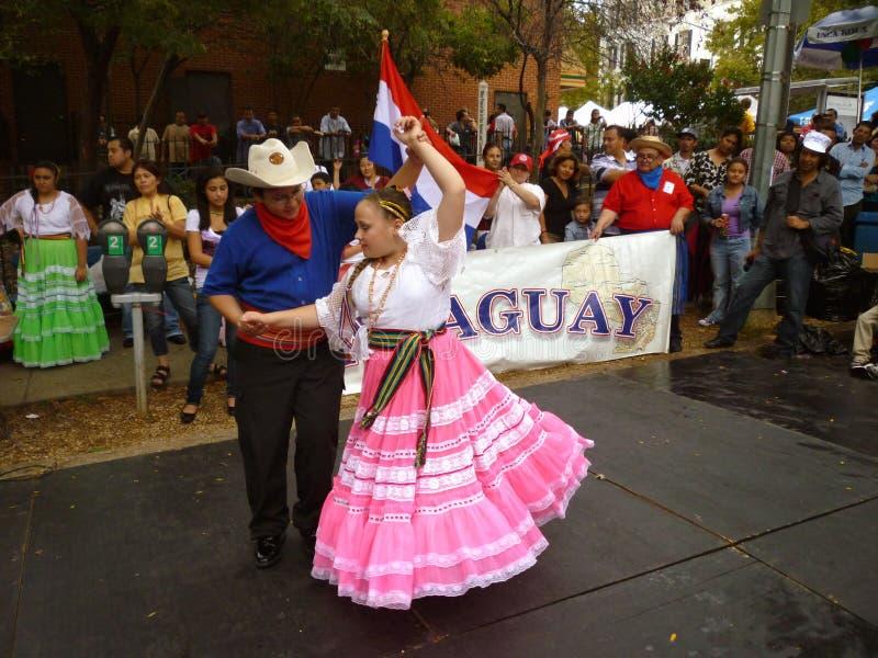 Paraguay-Umwerbung-Tanz stockfotografie