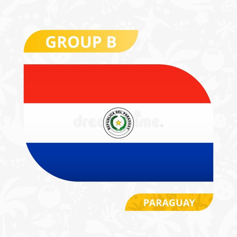 Paraguayansk lagflagga som göras i fotbollkonkurrensstil royaltyfri illustrationer