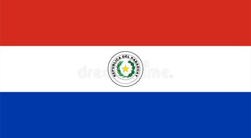 Paragwaj bandery ilustracji