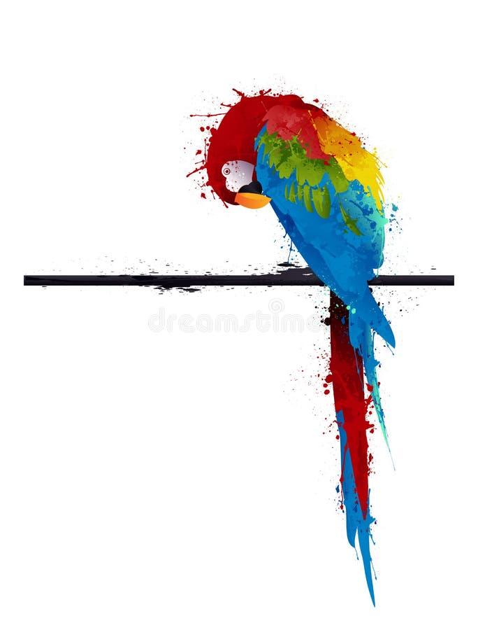 Parakeet del pappagallo, graffito illustrazione di stock