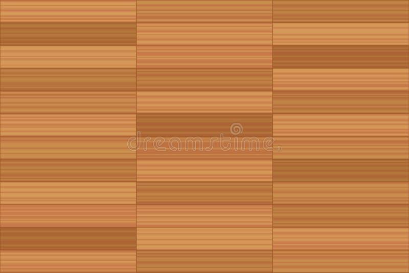 Paralela wzoru sterty więzi Parkietowa podłoga ilustracja wektor