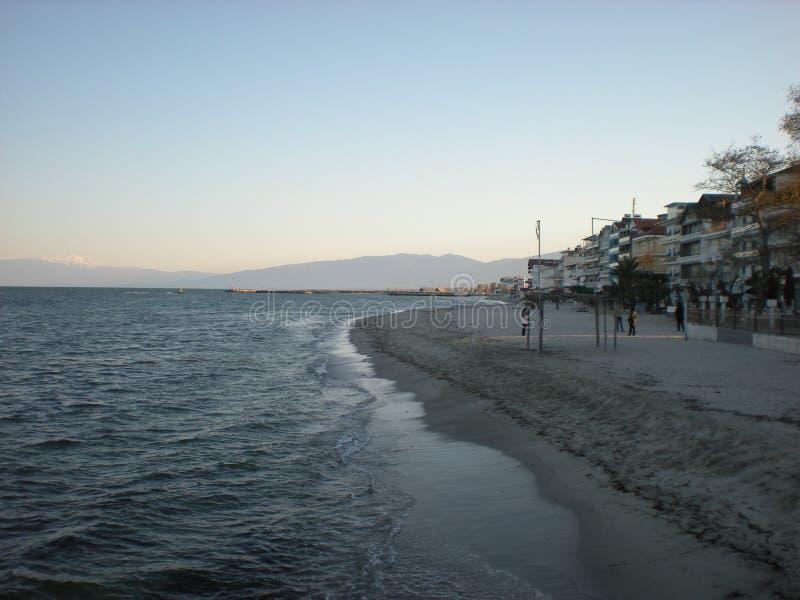 Paralia miasto w Grecja SALONIKI fotografia stock