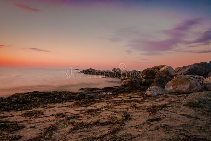 Paralia-Strand, Griechenland stockfotos