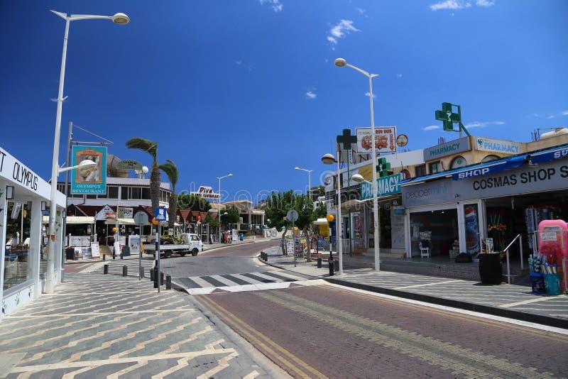 Paralimni i Cypern royaltyfria bilder