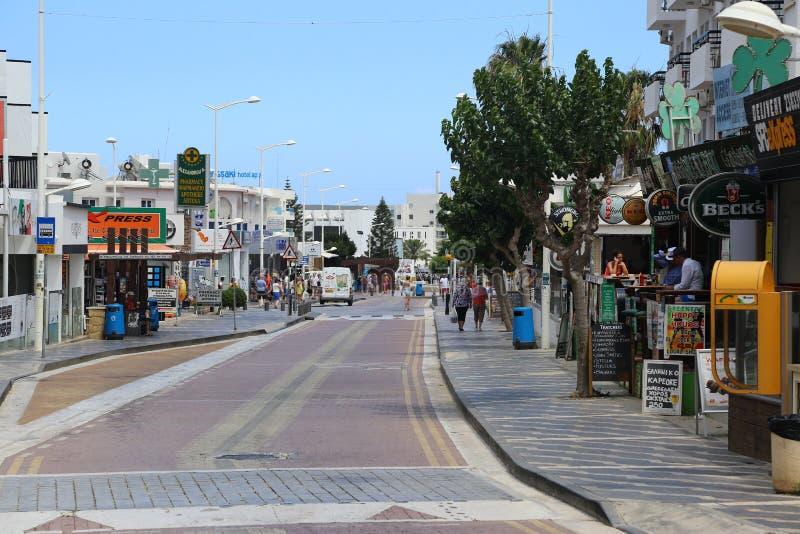 Paralimni i Cypern arkivbilder