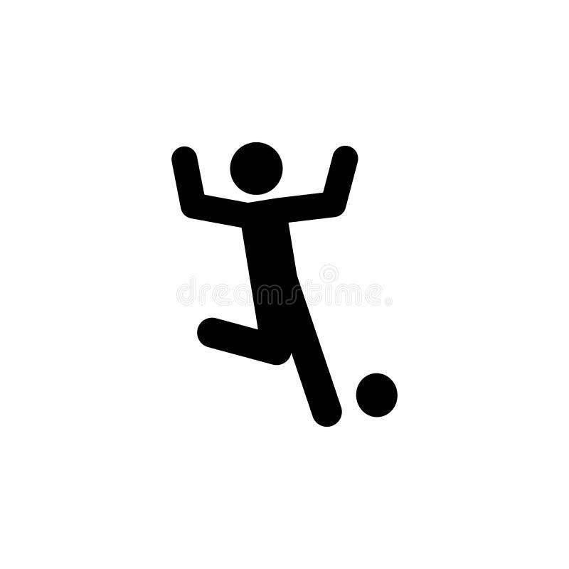 paralimpico, icona di calcio Elemento dell'essere umano disabile nell'icona di sport per i apps mobili di web e di concetto Paral illustrazione di stock