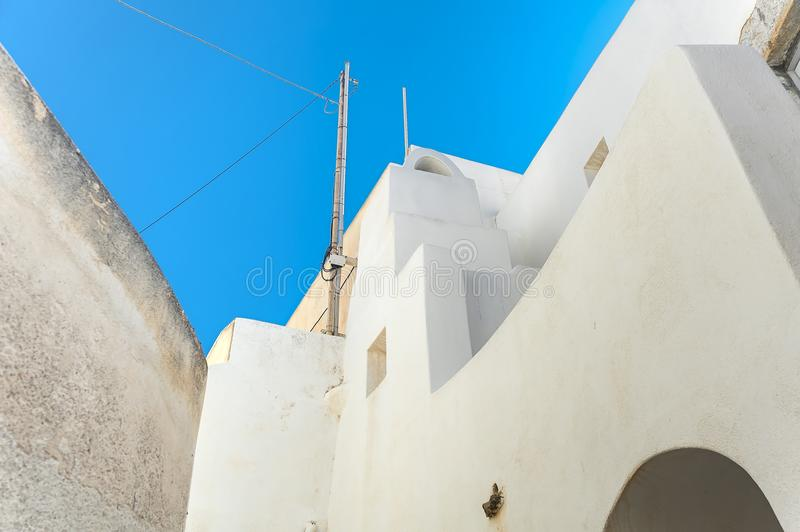 Paralização completa de Emporio, Santorini, Grécia imagens de stock