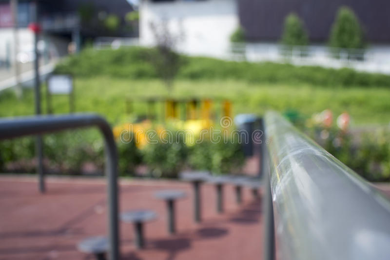 Parallel bars (workout park) royalty free stock photos