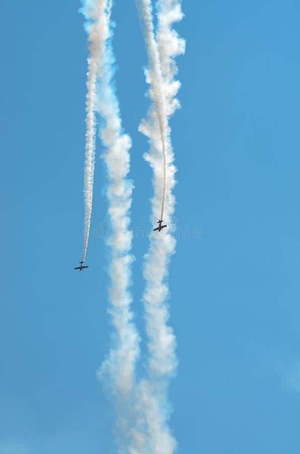 Download Parallel Diving Stunt Planes Stock Image - Image of cockpit, lakefront: 59054455