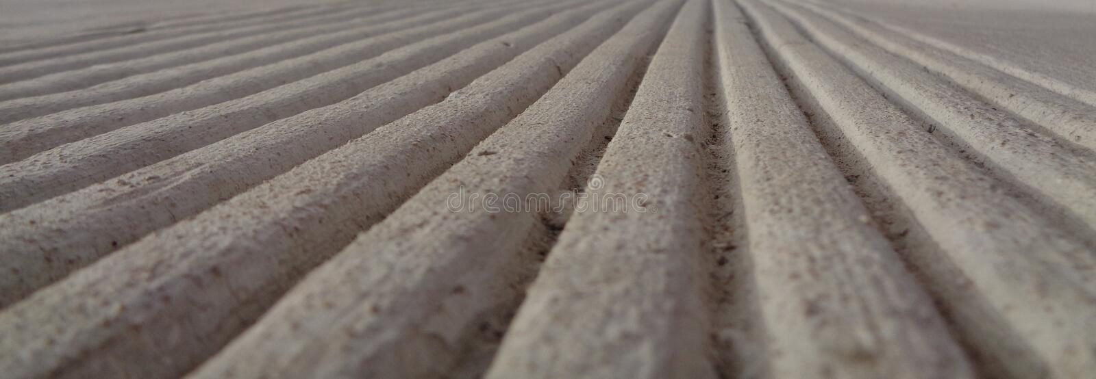 Parallel Lines in Concrete Toward a Horizon stock photography