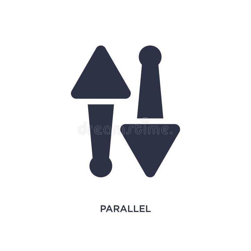 parallel pictogram op witte achtergrond Eenvoudige elementenillustratie van meetkundeconcept stock illustratie