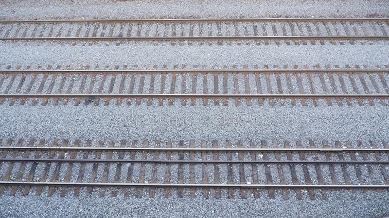 Parallel railroad stock image