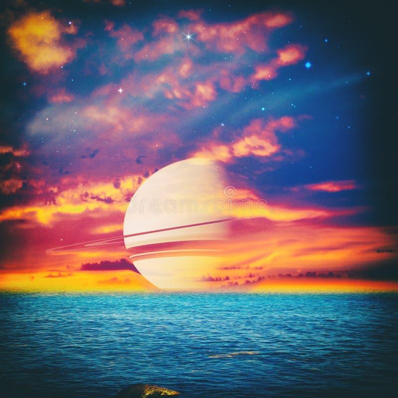 Parallel Universe. Fantastic landscape for your design royalty free stock image