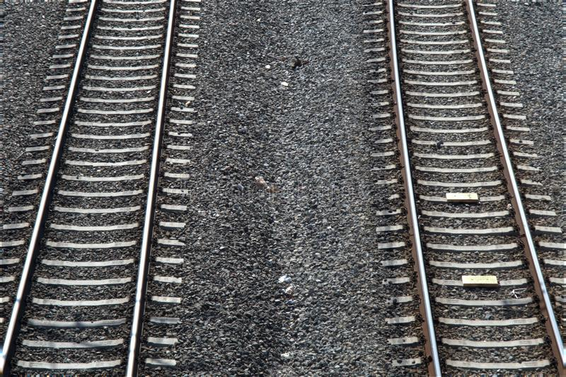Parallele Linien Bahn stockfoto