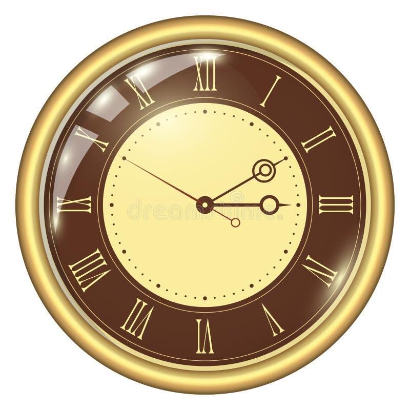 parallell klocka vektor illustrationer
