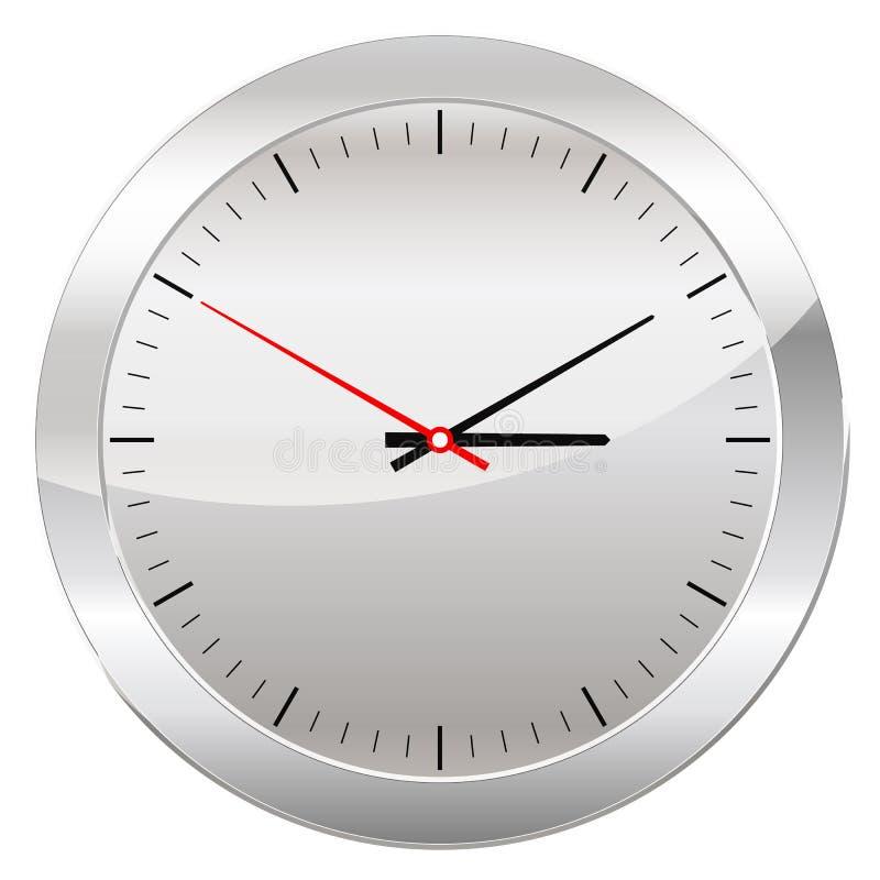 Parallell klocka som isoleras på en vit bakgrund stock illustrationer
