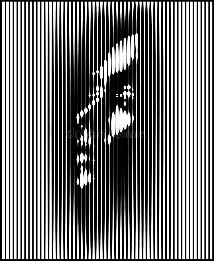 Parallell linje Art Face Ljus kvinnast vektor illustrationer