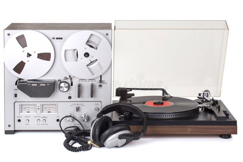 Parallell stereo- rullbandspelarespelare royaltyfria bilder