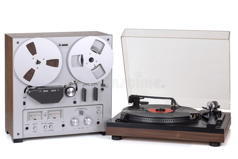 Parallell stereo- rullregistreringsapparatspelare arkivfoto