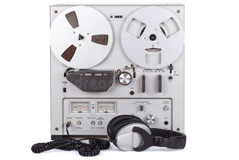Parallell stereo- spelare för rullbandspelardäckregistreringsapparat royaltyfria foton